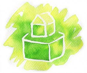 Green House(家のイラスト)